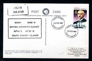 British Antarctic Territory - 1980 Postcard of Signy Island Base H