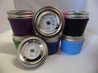 CURING JAR ANALOG HUMIDITY GLASS MANSON JAR 3G 7G UV HYGROMETER PRESS IT IN TIN