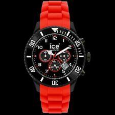 Ice CH.BR.B.S.10 Sili Chrono Black & Red Big Watch
