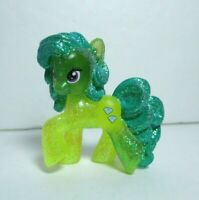 "My Little Pony FiM Blind Bag Wave #10 2"" Transparent Glitter Green Jewel Figure"