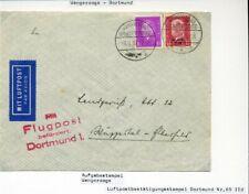 433389) Flugpost Wangerooge 1930, roter Bestätigungs-L4 Dortmund