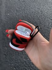 Air Pods 1 & 2 Case Jordan Shoe! Red Us Seller (In Hand)