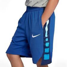Nike Big Boys Youth Dri-fit Elite Basketball Shorts At3072-481 Blue Sz XL