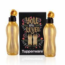 Tupperware Aquasafe Gold Water Bottle 750ml - Set of 2 Bottle