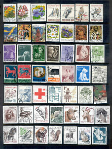 SWEDEN 200 Stamps Collection 1932 to 2008 Used