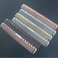 Metal Aluminum Cutting Comb Hair Hairdressing Barbers Salon Professional Combs S