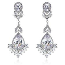 Vintage Jewels Royal Queen Earrings Bridal Jewellery CZ Cubic Zirconia -CRYSTALA