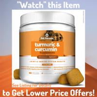 BEST Turmeric Curcumin Supplement for Dogs Soft Chews Treats Joint Immune Energy