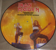 Iron Maiden: 12'' picture disc U.K. Import (running free) 1985