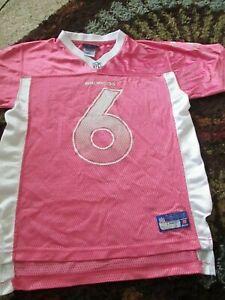 REEBOK RBK Peyton Manning NFL Denver Broncos Pink Jersey Girls Youth Large