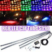 4x RGB LED Unterbodenbeleuchtung Farbwelchsel Neon Fernbedienung Musik Control