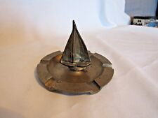 Vintage Art Deco Solid Brass Hand Forged Sailboat Ashtray/Gentleman's Tray