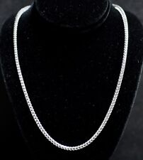 32.80 Grams 14K Solid White Gold Franco Necklace Chain 22 Inch Brand new