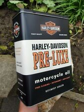 Official HARLEY-DAVIDSON Motorcycles PRE-LUXE Tin Storage / Lunch Box Container