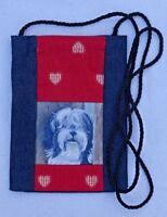 TIBETAN TERRIER DOG NEW FABRIC SMART PHONE POUCH BAG SANDRA COEN ARTIST PRINT