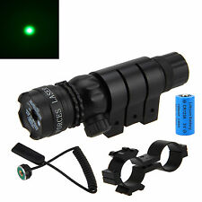 Tactical Green Dot Laser Sight Rifle Gun Scope Rail&Barrel Cap Switch Optics New