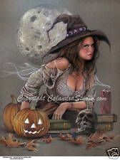 Calandra Art - Halloween Witch! Signed Mini Print!