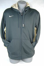 New Mens Large NIKE Therma Fit Stay Warm Gray Tan Jacket Hoody $70