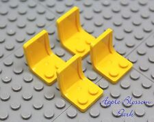 NEW Lego Lot/4 YELLOW MINIFIG CHAIRS 4 Kitchen Table -Car/Truck/Vehicle Seat Set
