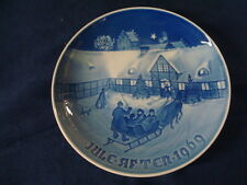 1969 Christmas Plate Bing & Grondahl B&G Arrival of Christmas Gifts