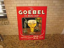 Vintage 1951 Goebel Beer Advertising Sign - Beautiful Condition
