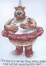 Alvin the Dancing Bear Cross Stitch Kit - Creature Comforts