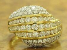 18kt 750 GOLD GELBGOLD RING MIT 2,90ct. BRILLANT BESATZ BRILLANTRING DIAMANTRING