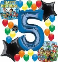 Paw Patrol Birthday Party Supplies Number Balloon Decoration Bundle For (5th ...