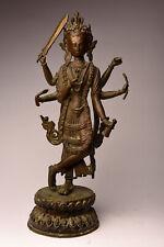 Alter großer Buddha Nepal Tibet Bronze 36 cm antik antique Yoga B83