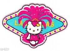 """3.5"""" HELLO KITTY SANRIO STATE OF USA NEVADA LAS VEGAS FABRIC APPLIQUE IRON ON"""