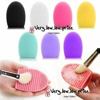 Makeup Foundation Brush Cleaner Cosmetic Cleaning Silicone Egg Scruber Glove