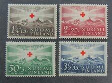 nystamps Finland Stamp # B35-B38 Mint OG NH $38