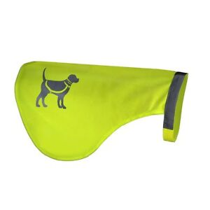 HQRP Yellow Reflective Safety Dog Fluorescent Vest High Visibility, Medium Size