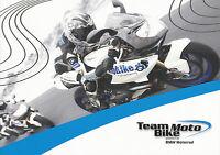 BMW Team Moto Bike Prospekt 2008 Fahrertrainings brochure driver trainings