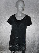 Cecil Shirt schwarz mit Muster Kurzarm Größe M Neuwertig