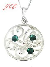 Necklace pendant decorated with Swarovski sparkle sterling silver chain JCE11