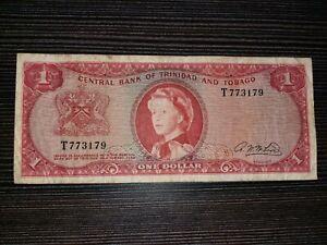 TRINIDAD and TOBAGO TT$ 1 Dollar signature McLeod Pick 26b 1964 Queen Elizabeth