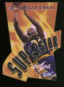 1997-98 Fleer Ultrabilities Superstar Die-Cut #4 Shaquille O'Neal Lakers HOF