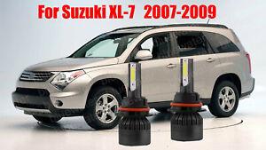LED For Suzuki XL-7 2007-2009 Headlight Kit H13 6000K White Bulbs High/Low Beam