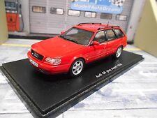 AUDI S6 A6 Plus Avant Quattro 1996 red rot Kombi V8 Resin Highend Spark 1:43
