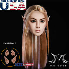 1/6 Fairy Elf Female Head Sculpt Detachable Ears PALE For PHICEN Female Figure