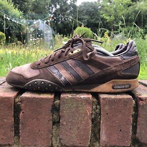 Vintage 07 Adidas Adistar 80, UK 10 -  Brown  80s Gazelle Casuals Racer Leather