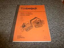 Timberjack LOKOMO 933C Clambunk Skidder Owner Operator Maintenance Manual 7615