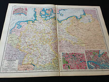 "Harmsworth New Atlas Of The World ""Germany"""