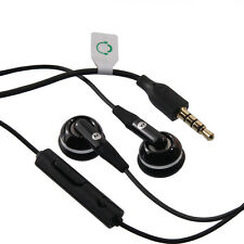 "BLACK MOTOROLA 3.5mm 1/8"" Earphones Headphones Mic Handsfree Headset"