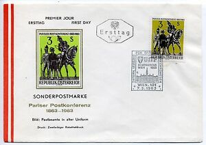 Austria 1963 Paris Postal Conference First Day Cover