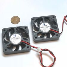 2 Pieces 5010 24V fan 50mm 5cm Extruder Cooling Heatsink Gdstime 3d printer C21