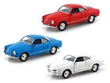 WELLY 43634D DISPLAY 1/32 VOLKSWAGEN KARMANN GHIA COUPE DIECAST CAR SET OF 3
