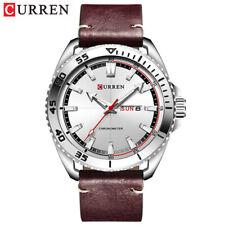 CURREN 8272 Fashion Men watch Date Display Leather Quartz Wrist Watches
