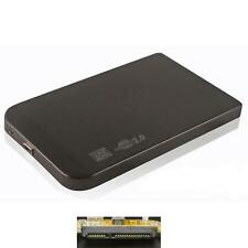 External 2.5 Inch Hard Drive Case SATA HDD SSD Protection USB 2.0 Black